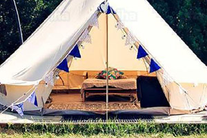 Glamping at Breck Farm – Bell Tents and Shepherd's Huts